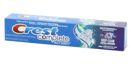 Crest Complete Toothpaste Whitening + Deep Clean, Effervescent Mint 5.80 oz [037000480693]