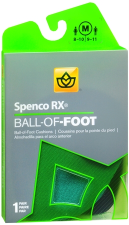 Spenco RX Ball of Foot Cushions Medium 1 Pair [038472436126]