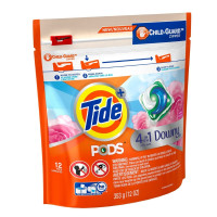 Tide PODS April Fresh Downy Liquid Laundry Detergent Pods, 12 ea [037000977797]
