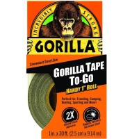 Gorilla Glue Duct Tape To-Go, Black 1 ea [052427610010]