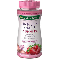 Nature's Bounty Optimal Solutions Hair, Skin and Nails Gummies with Biotin, Strawberry Flavored 80 ea [074312535451]