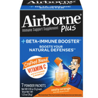 Airborne Plus Beta-Immune Booster Zesty Orange Powder Packets 7 ea [647865970590]
