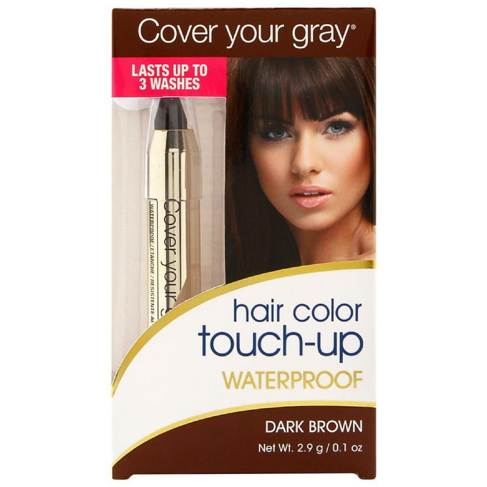 Cover Your Gray Hair Color Waterproof Touch Up Stick Dark Brown