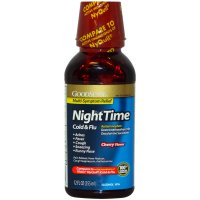 Good Sense Nighttime Cold and Flu Relief Liquid, Cherry Flavor 12 oz [301130459400]