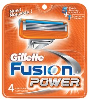 Gillette Fusion Power Cartridges 4 Each  [047400156876]