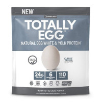 Designer Protein Totally Egg Protein Powder, French Vanilla Flavor, 12.4 oz [844334011598]