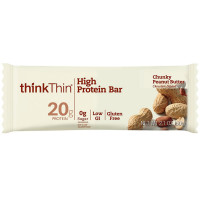 Think Thin High Protein Bars, 2.1 oz bars, Chunky Peanut Butter, 10 ea [753656701264]