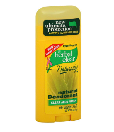 Herbal Clear Natural Deodorant Clear Aloe Fresh 2.65 oz [740985229958]