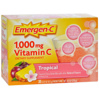 Emergen-C 1000 mg Vitamin C Fizzy Drink Mix, Tropical 30 ea [076314302079]