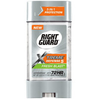 Right Guard Xtreme Defense 5 Antiperspirant Gel, Fresh Blast 4 oz [017000068077]