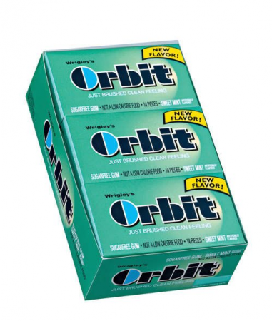 Orbit Sugar Free Gum Sweet Mint 12 pack (14 ct per pack)  [022000114839]