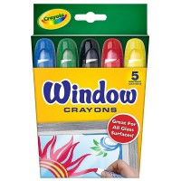 Crayola Washable Window Crayons, Assorted 5 ea [071662097653]
