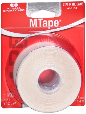 Mueller Sport Care Athletic M Tape White [430105] 1 Each [074676431055]