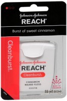 REACH Cleanburst Waxed Floss Cinnamon 55 Yards [381370092193]