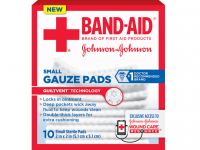 BAND-AID First Aid Gauze Pads, 2 in x 2 in, 25 ea [381371161249]