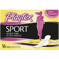 Playtex Sport Ultra Thin Long Pads  16 ea [078300007173]