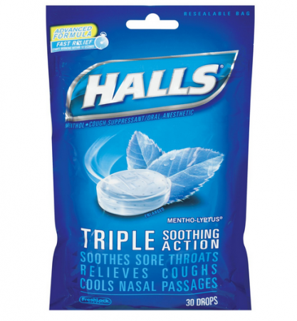 Halls Mentho-Lyptus Triple Action Drops 30 Each [312546629363]