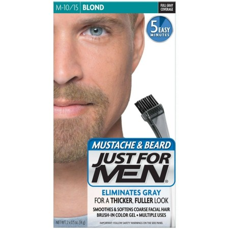 JUST FOR MEN Mustache & Beard Brush-In Color Gel, Blond M-10/15 1 Each [011509049001]