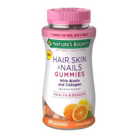 Nature's Bounty Hair, Skin, & Nail Health with Biotin & Collagen Dietary Supplement Gummies, Orange,  80 ea [074312785641]