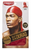 KISS Red Durag Silky Satin Red Extra Long Tails  1 ea [731509759242]