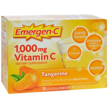 Emergen-C Vitamin C Drink Mix Packets Tangerine 30 Each [076314302024]