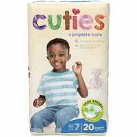 Baby Diaper Cuties Complete Care Tab Closure Size 7 Disposable Heavy Absorbency - 20 ea [090891950713]