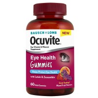 Bausch & Lomb Ocuvite Eye Health Gummies, Mixed Fruit Flavors 60 ea [324208602607]