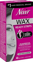 Nair Hair Remover Wax Ready Strips 40 ea [022600019572]