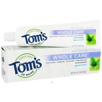 Tom's of Maine  Whole Care Toothpaste with Fluoride, Spearmint 4.7 oz [077326830888]