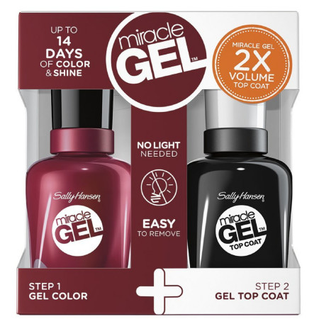 Sally Hansen Miracle Gel Nail Polish, Dig Fig 1 ea [074170442984]
