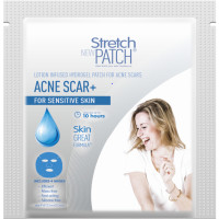 "Stretch Patch ""ACNESCAR+ for Sensitive Skin Lotion Infused Hot Patch For Acne Scars"" 1 ea [745557334153]"