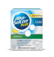 Alka-Seltzer Plus Night Cold Effervescent, Lemon 20 ea [016500565000]