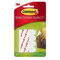 Command  Poster Hanging Strips, White 12 ea [051131659889]