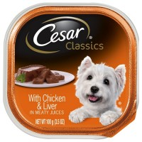 Cesar Canine Cuisine With Chicken & Liver In Meaty Juices 3.50 oz [023100014050]