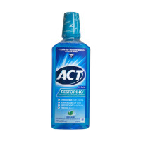 ACT Restoring Anticavity Fluoride Mouthwash Cool Mint 18 oz [041167095652]
