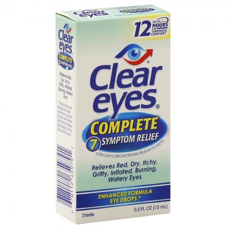 Clear Eyes Complete 7 Symptom Relief Eye Drops 0.50 oz [678112659791]