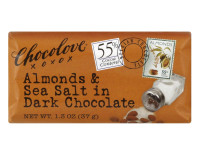 Chocolove Chocolate Bar, Almonds & Sea Salt in Dark Chocolate, 1.3 oz bars, 12 ea [716270051559]