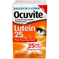 Bausch & Lomb Ocuvite Lutein 25 Lutein & Zeaxanthin Supplement Softgels 30 ea [324208661581]