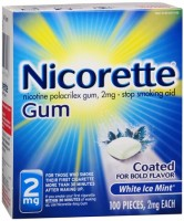 Nicorette 2 mg Coated White Ice Mint 100 Each [307667750003]