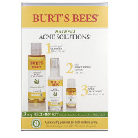 Burt's Bees Natural Acne Solutions 3 Step Acne Regimen Kit 1 Each [792850005303]