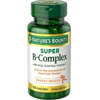 Nature's Bounty B-Complex with Folic Acid Plus Vitamin C, Tablets 150 ea [074312131684]