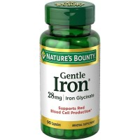Nature's Bounty Gentle Iron 28 mg 90 Capsules [074312016035]