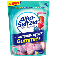 Alka-Seltzer Heartburn Relief Gummies, Mixed Fruit 36 ea [016500566649]