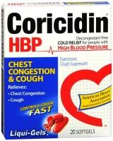 Coricidin HBP Chest Congestion & Cough Liqui-Gels 20 Liqui-Gels [041100807434]