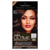 Schwarzkopf Color Ultime Deep Brunettes Hair Color Kits, Rich Brown [4.1] 1 ea [017000129686]