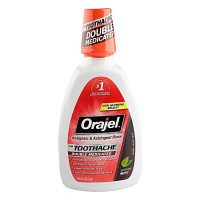 Orajel Analgesic and Astringent Rinse Double Medicated for Toothache, 16 oz [310310430016]