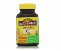 Nature Made Vitamin C 500 mg Chewable Tablets, Orange 60 ea [031604014964]