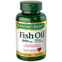 Nature's Bounty 300 mg Omega-3 Fish Oil 1000 mg Softgels 120 Coated Soft Gels [074312278006]