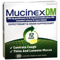 Mucinex DM Maximum Strength 12-Hour Expectorant & Cough Suppressant Tablets 42 ea [363824056364]