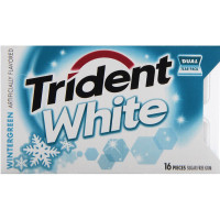 Trident White Sugar Free Gum, Wintergreen 16 ea [012546676137]